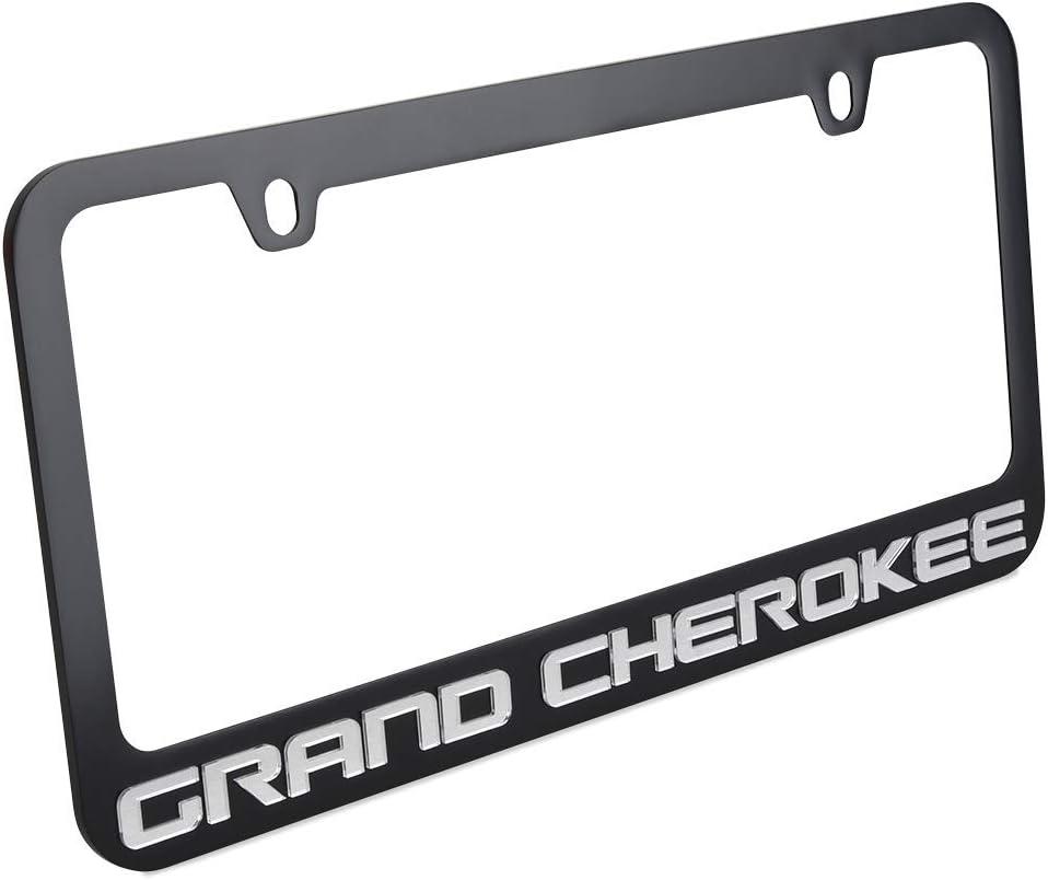 Black with Mirrored Script Eurosport Daytona Jeep Grand Cherokee License Plate Frame