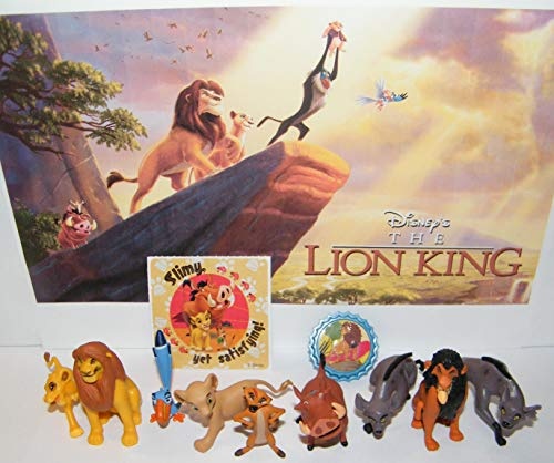 The Lion King Movie Figure 10 Set with Additional LionRing and Fun Movie Sticker Includes All The Popular Characters with Nala, Mufasa, Timon, Hyensa and More! (Disney Lion King Figurines)