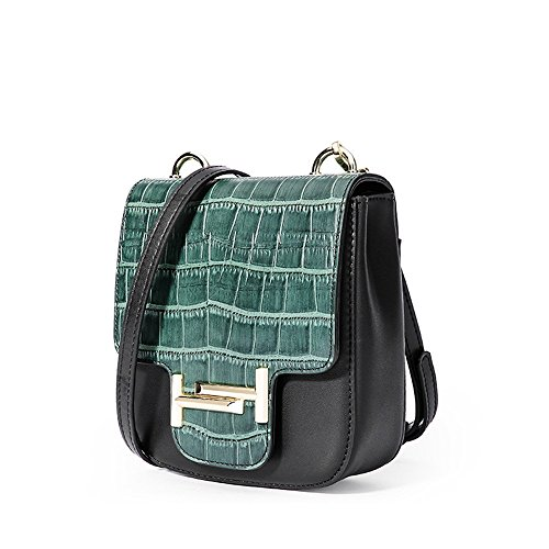 Green Bag Sunbobo Simple Strap Snake Buckle Dark Bag Shoulder Shoulder Retro Shoulder Serpentine x6vq7x
