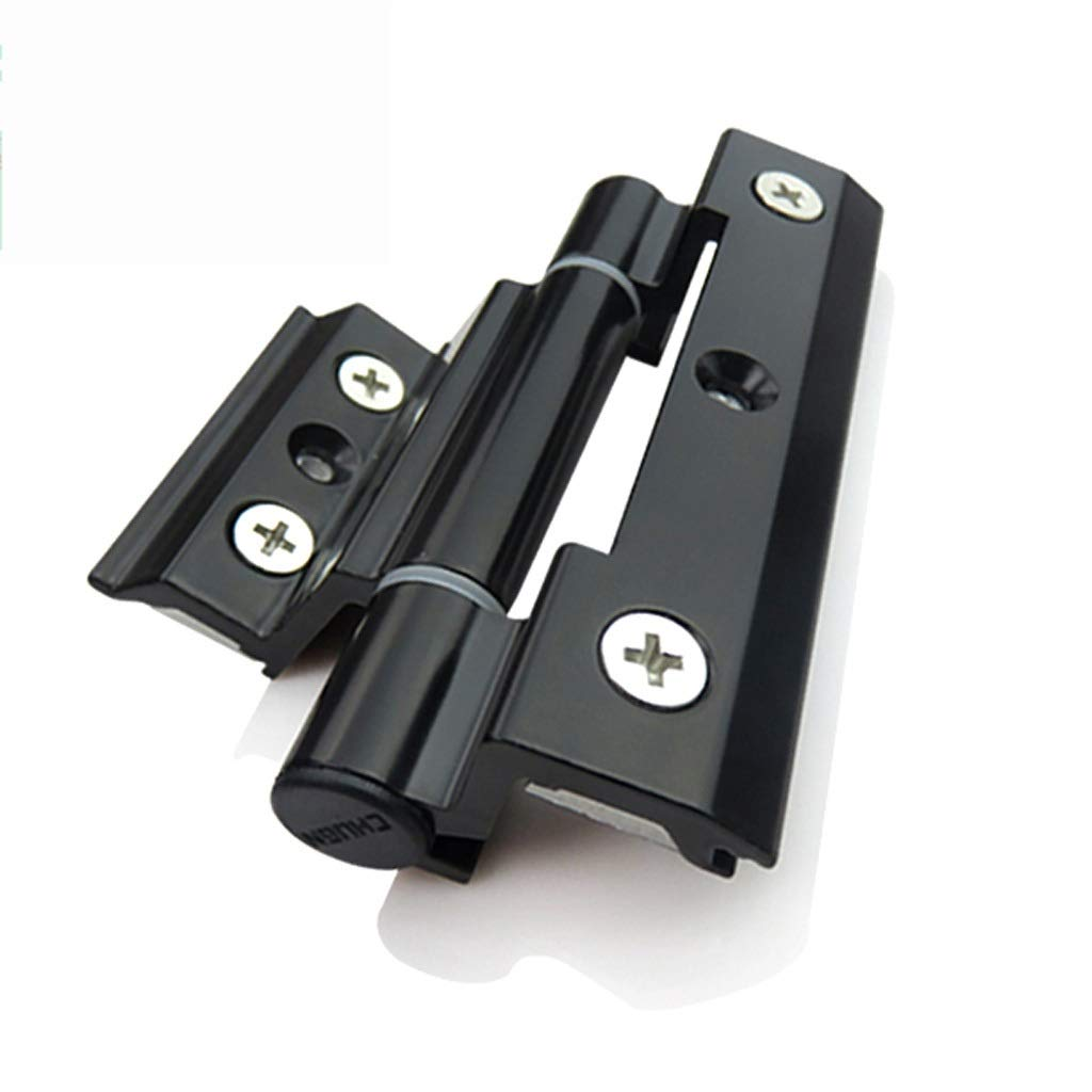 LEZDPP 2 Pieces of Aluminum Alloy Door and Window Hinges Broken Bridge Insulation Casement Window Hinges Door and Window Hardware (Color : Black, Size : 8pcs) by LEZDPP
