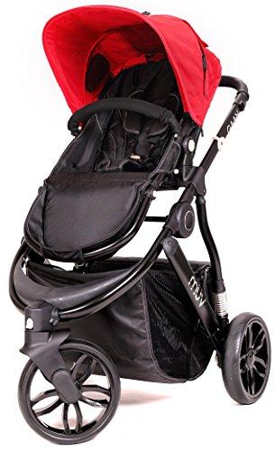 MUV GAAN Stroller - Satin Black/Cabernet