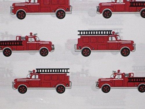 Authentic Kids Vintage Fire Truck Sheet Set, Full Size ()