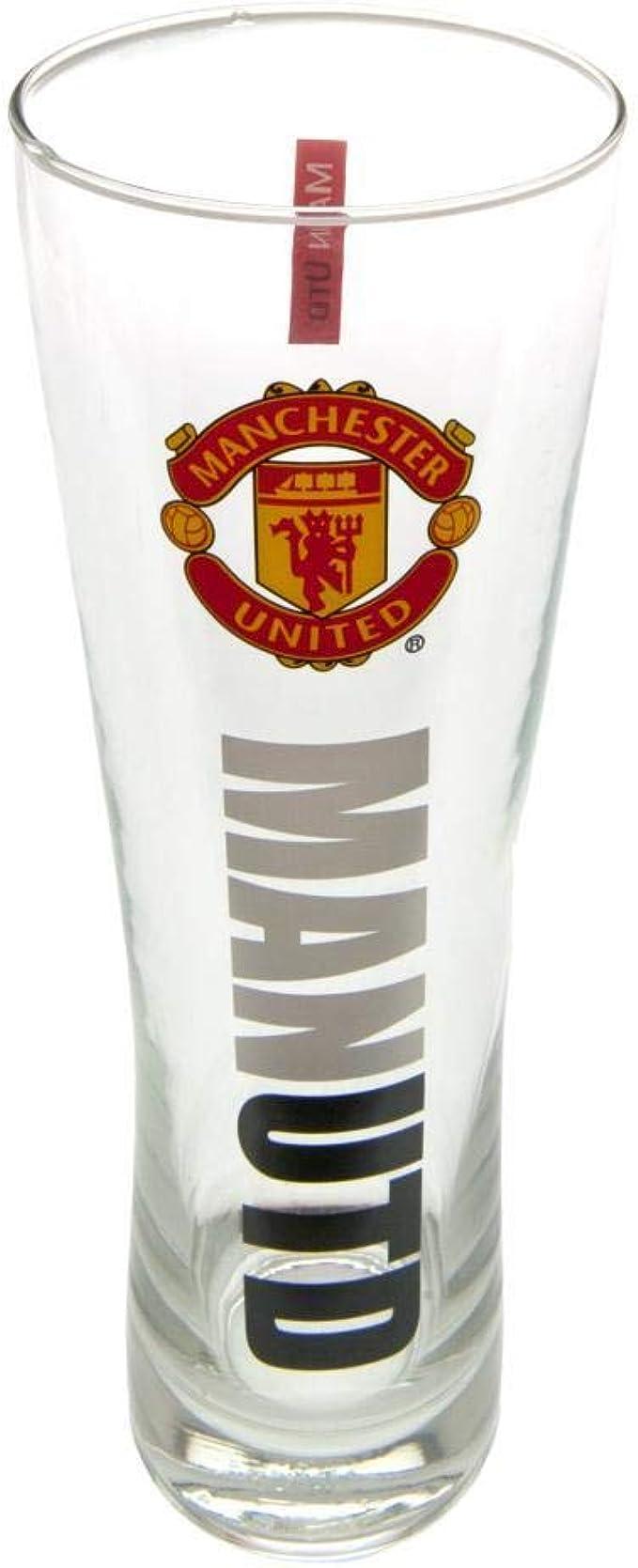 Manchester United Wordmark Crest Peroni Pint Glass