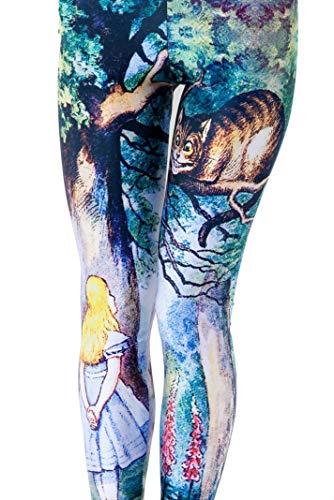 Women Cheshire Cat Alice In Wonderland Costumes leggings -
