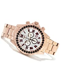 Invicta Mens Pro Grand Diver Limited Swiss Black Spinel Accent 18 Rose Gold Bracelet Watch 14537