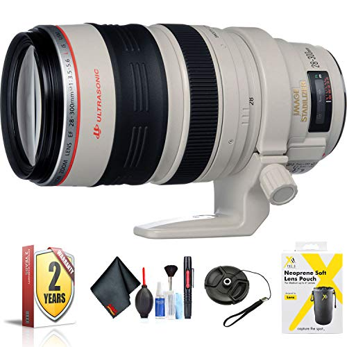 Canon EF 28-300mm f/3.5-5.6L is USM Lens for EF-Mount Mount + Accessories (International Model with 2 Year Warranty)