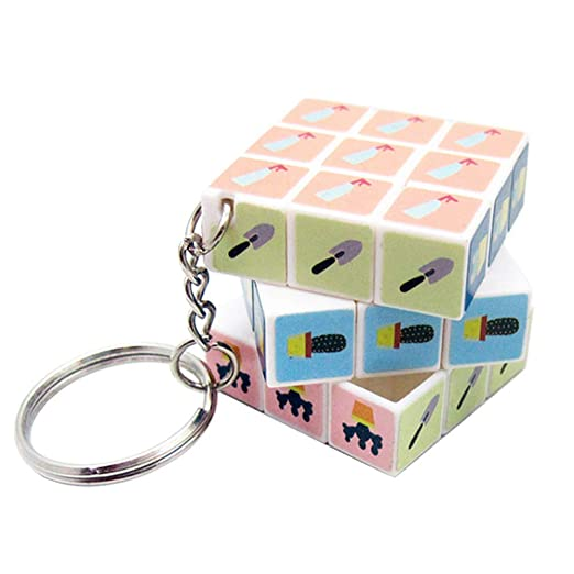 AMA-StarUK36 3 cm Mini Cubo Llavero de liberación rápida ...