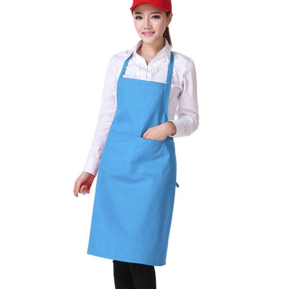 Shineweb調節可能なウォータードロップ耐性よだれかけエプロンwith 2ポケット料理キッチンエプロン Onesize ブルー 1XQQ171036QW8ZA5219  ブルー B073S61L71