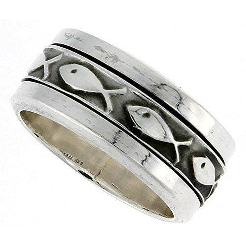 Sterling Silver Spinner Christian Handmade