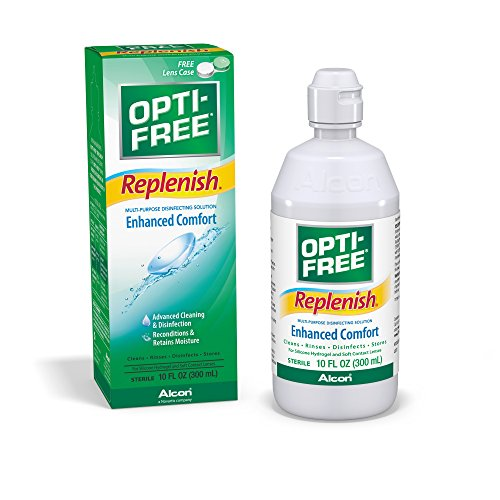 Opti-Free Replenish Multi-purpose Disinfecting Solution, 10-Ounce (Pack of 2)
