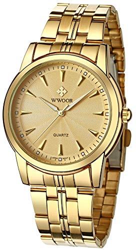 WWOOR Men Simple Watch Ultra Thin Waterproof Luminous Function Fashion Japanese Movement Analog Quartz Wristwatch