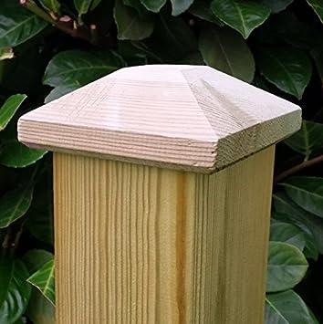 Pfostenkappe aus Holz für Pfosten 11x11 cm, imprägniert: Amazon.de ...