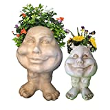 Homestyles Antique White Daisy 12 in. & Sister Suzy Q 8.5 in. the Muggly Face Statue Planter Pot Review