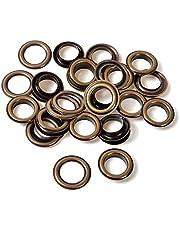 Trimming Shop Messing oogjes Grommets met ringen roestbestendig voor kleding, lederen werk, scrapbooking, kunst en ambacht
