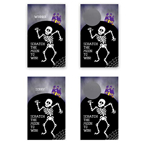 Spooky Halloween Party Games (My Scratch Offs Halloween Spooky Skeleton Scratch Off Game Card - 25)