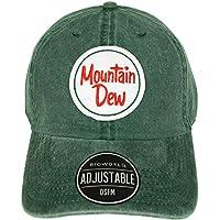 Drink Mountain Dew Hat Baseball Cap Throwback Mountain Dew MTN Dew Clothing Apparel Pepsi Co. Hat Green