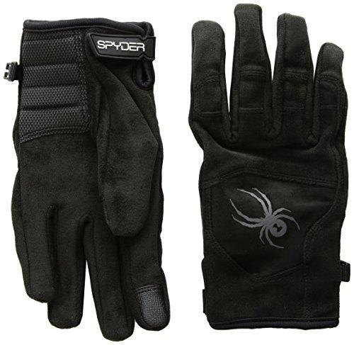 Spyder Men's Park-N-Pipe Ski Glove, Black/Black/Polar, Medium - Black Pipe Glove
