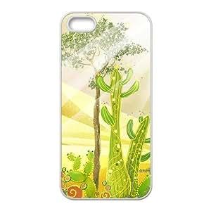 Golden desert camel scenery Phone Case for iPhone 5S(TPU)