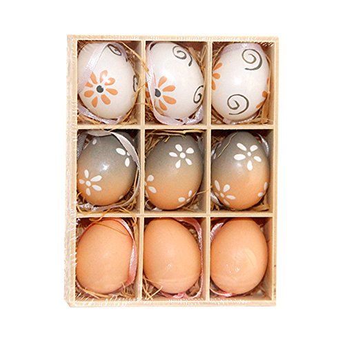 DDKK toys 9pcs DIY Painting Graffiti Plastic Fake Eggs Easter Eggs Children Toys Christmas Birthday Gift for Children (Random Color) -