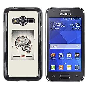 Shell-Star Arte & diseño plástico duro Fundas Cover Cubre Hard Case Cover para Samsung Galaxy Ace4 / Galaxy Ace 4 LTE / SM-G313F ( Skull Grey Anatomy Brain Medical )