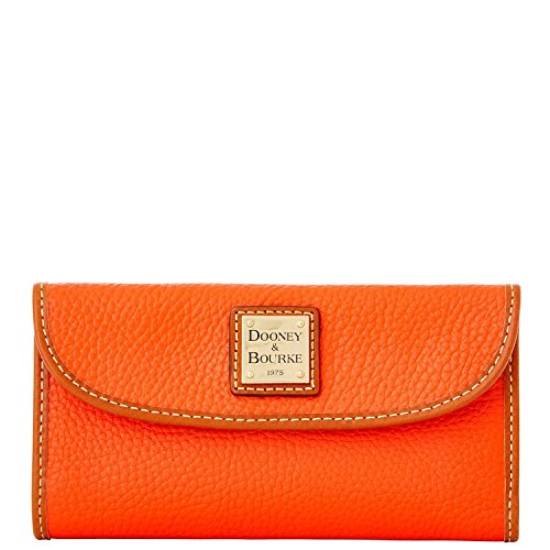 Dooney & Bourke Cosmetic Case (Dooney & Bourke Pebble Grain Continental Clutch (Persimmon))