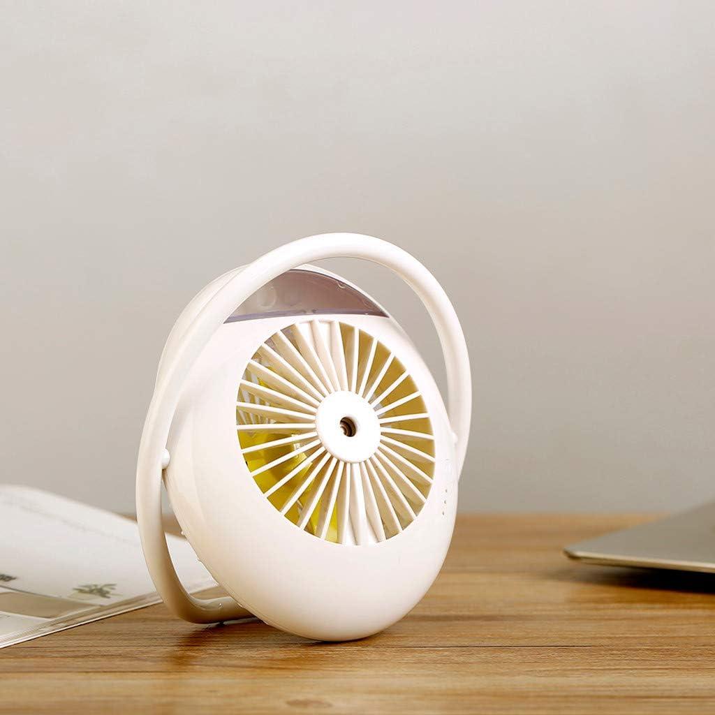USB Misting Spray Fan White Juesi Portable USB Desktop Adjustable Wind Speed Spray Humidification Fan