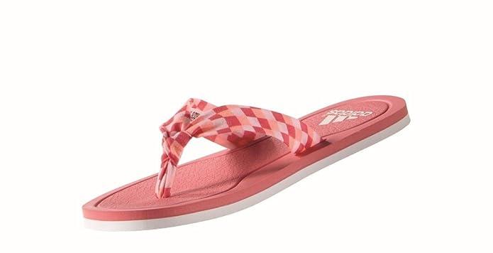 adidas Litha Tex W, Tongs Femme, Multicolore-Rosa/Blanco (Rubsup/Ftwbla/Rolhal), 43 1/3 EU