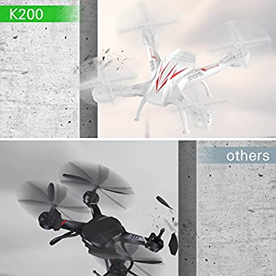 Beebeerun Wifi FPV RC Quadcopter Drone with Camera Live Video 2.4GHz 6-Gyro Headless Mode Altitude Hold One-Key Function VR Headset-Compatible Gravity Induction Damage Resistance from Beebeerun