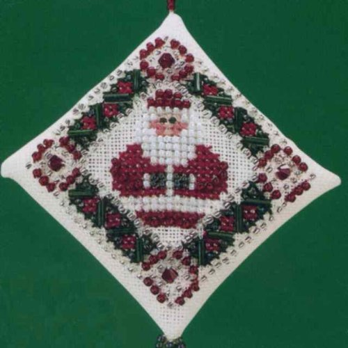 Simply Santa Mill Hill Beaded Counted Cross Stitch Kit 2000 Tiny Treasured Diamonds MHTD18