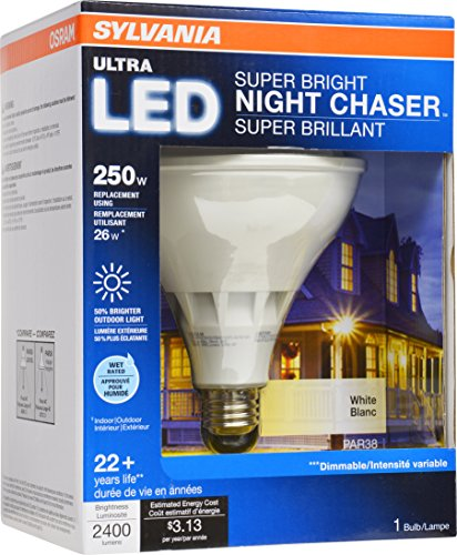 SYLVANIA-Ultra-LED-Light-Bulb-dimmable-26W-Replacing-250W-Halogen-PAR38-Medium-Base-E26-3000K