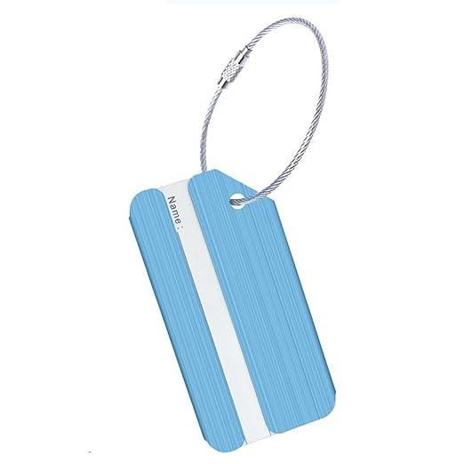 439fae8cc4df Amazon.com | Transer Luggage Tags, Aluminum Alloy Bag Tag Travel ID ...