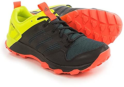 adidas S83258 Mens Kanadia 7 Trail Shoe, Black/Black/Solar Yellow - 11