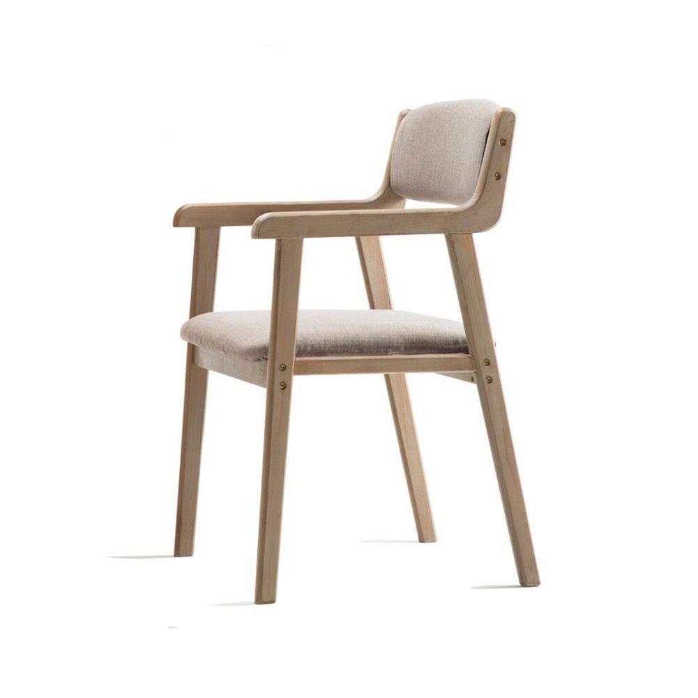 DALL ダイニングチェア JY-07現代的でシンプルな 純粋な色 無垢材 組み立てることができます リムーバブル 背もたれレジャー木製椅子 (色 : 1) B07DF9DFNZ 1 1