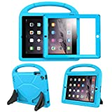 BFTOP Compatible Kids Case for iPad 2 3 4 with Built-in Screen Protector, Lightweight Shockproof Cover Case with Handle & Stand for iPad 2, iPad 3rd Generation, iPad 4th Generation Tablet - Blue