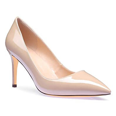 eaf49e861bf23 SUNETEDANCE Pumps Shoes Women Slip On Comfort Classic Heels Office Business  High Heels Pointed Toe Stiletto 8CM Heel Shoes