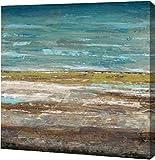 PrintArt GW-POD-52-420DAS1015-36x36 ''Abstract Sea 2'' by Dennis Dascher Gallery Wrapped Giclee Canvas Art Print, 36'' x 36''