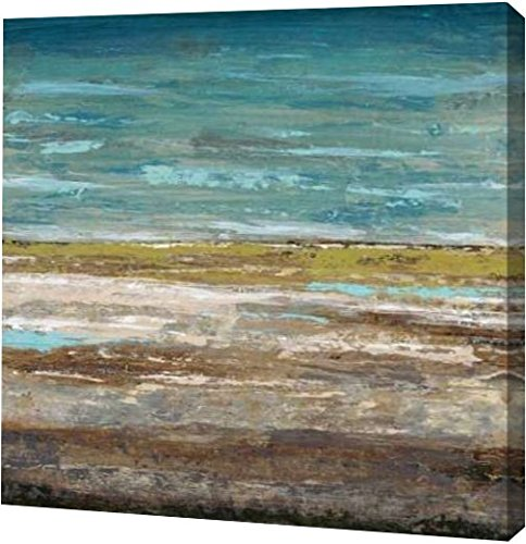 PrintArt GW-POD-52-420DAS1015-36x36 ''Abstract Sea 2'' by Dennis Dascher Gallery Wrapped Giclee Canvas Art Print, 36'' x 36'' by PrintArt