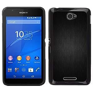LECELL--Funda protectora / Cubierta / Piel For Sony Xperia E4 -- Motif gris --