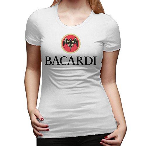 greenday-womens-bacardi-logo-short-sleeve-tee-size-m-white