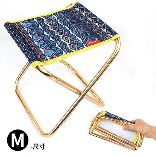 Sykdybz Aluminum Alloy Chair Outdoor Folding Mini Portable Barbecue Fishing Small Stool,Ocean by Sykdybz