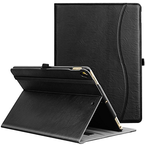 New Premium Leather Case (IPad Pro 10.5 Inch 2017 Case, Ztotop Premium Leather Business Slim Folding Stand Folio Cover for New Apple Tablet with Auto Wake / Sleep and Document Card Slots, Multiple Viewing Angles,all black)