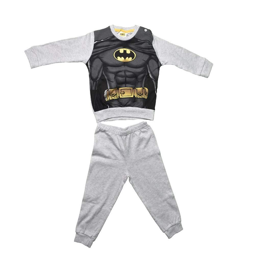 non applicabile Pigiama Pigiamino Bambino completo Pantalone e Maglia con Stampa BATMAN