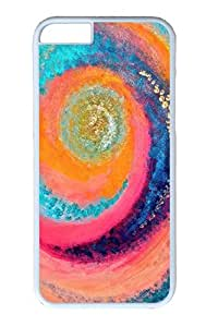 iPhone 6 Plus Case, Personalized Protective Hard PC White Case Cover for Apple iPhone 6 Plus(5.5 inch)- Pink Rainbow
