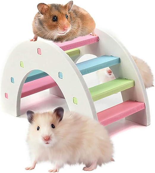 Legendog Hámster Juguete Creativo Juguete del Puente del Animal Doméstico Escalera De Animales Pequeños Juguete Juguete para Mascotas: Amazon.es: Productos para mascotas