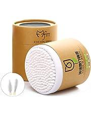 200pcs / pacco bastoncini di cotone bastone Cotton Fioc ecologici  Tamponi di Cotone Bastoncini in legno Eco Friendly Confezione di Cartoncino Riciclato Biodegradable(White)