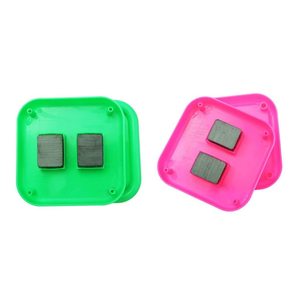 Computer accessories - 2Pcs Square Magnetic Pin Cushion Sewing Needles Organizer DIY Sewing Tools Container Home Garden Hand Craft Box Green Pink by trang tri