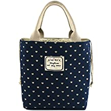 Bidear Cute Insulated Lunch Bag, Durable and Fashionable Lunch Cooler for Women Teens Girls Boys Kids (Blue1)