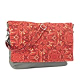 Yarn Pop Clutchable Knitting Bag - Red & Gold Dazzle
