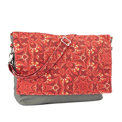 Yarn Pop Clutchable Knitting Bag - Red & Gold Dazzle by Yarn Pop