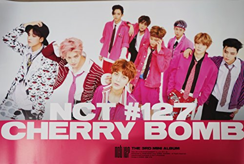 NCT 127 - NCT#127 CHERRY BOMB (3rd Mini) [Type-A] OFFICIAL POSTER with Tube Case 24 x 36.2 inches ()